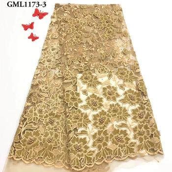 2019 gold trimmings wholesales Costume french lace trimming velvet lace fabrics with beads