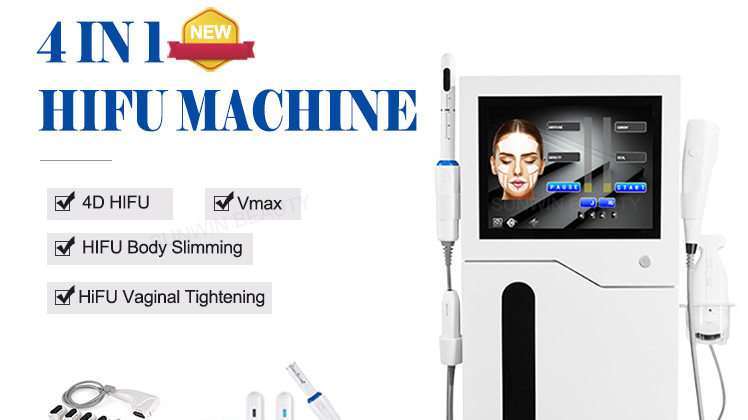 4 In 1 4D Hifu Huid Lifting Smas Eye/Nek/Gezicht Lift Body Afslanken Draagbare Hifu Vmax Korea thuisgebruik Vaginale Aanscherping Machine