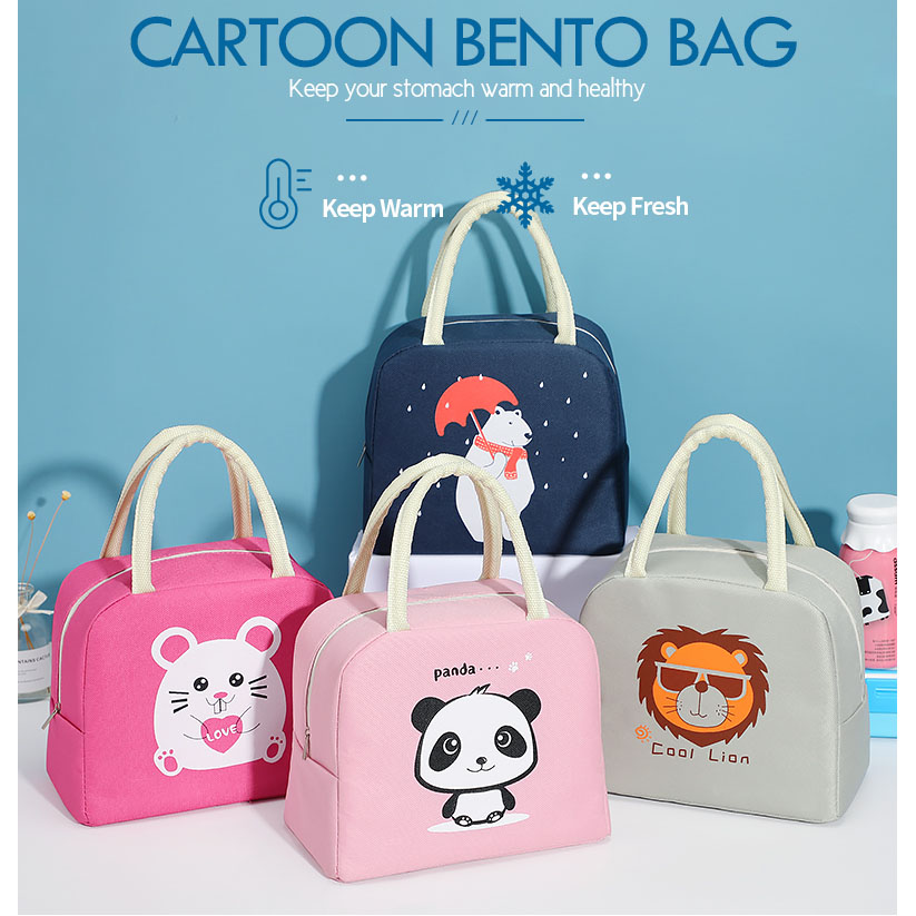 product-GF bags-tue cartoon lunch bag for women new pink panda girl hand cooler bags portable therma