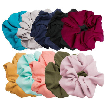 Solid Color Chiffon Elastic Hair Ties For Girls Women Hair Rope Rings Scrunchies Ponytail Holder Pink Black Hair Accessories