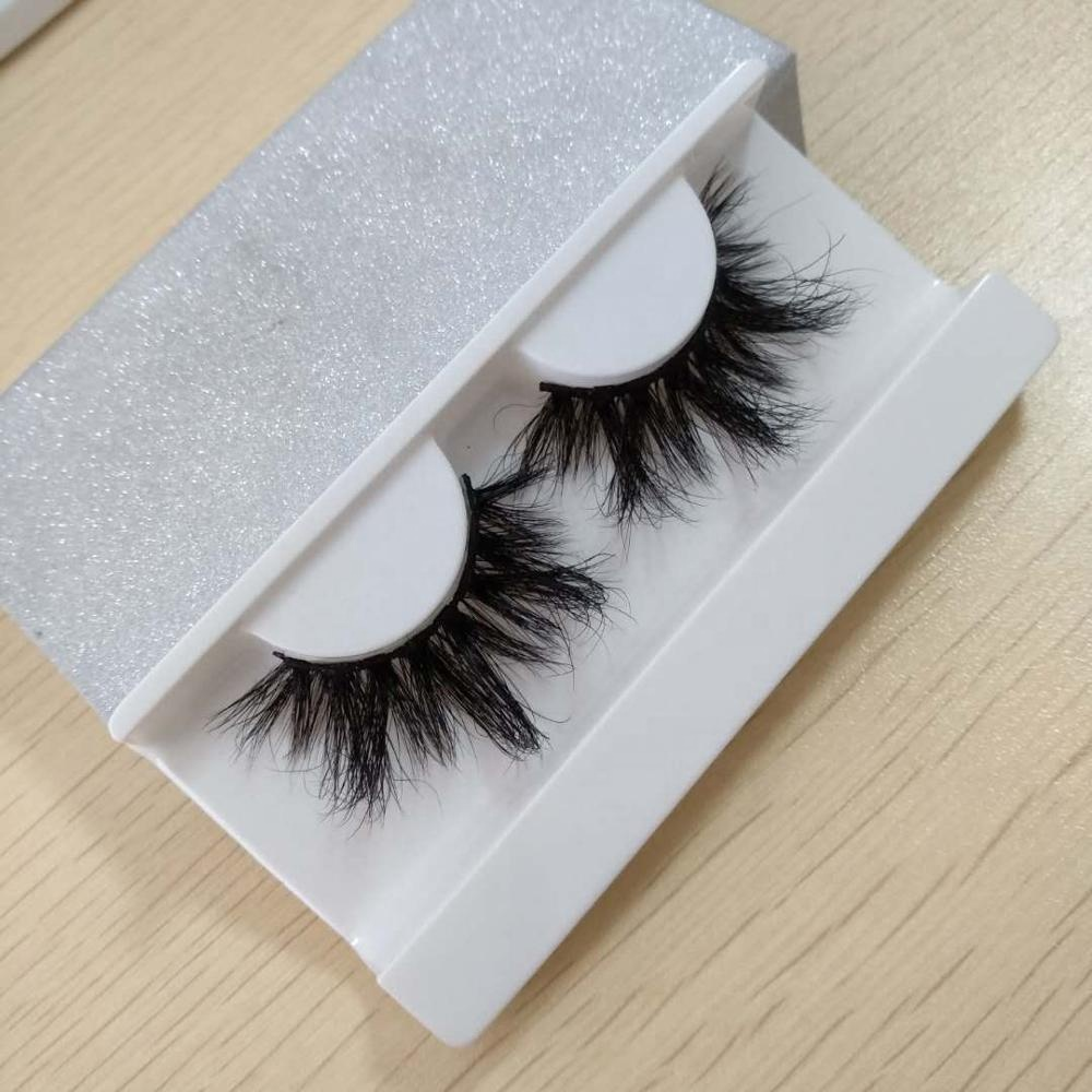 Custom Handmade 3D 25 MM Mink Eyelashes And Mink Lashes Private Label Lashes Packing Box, Black