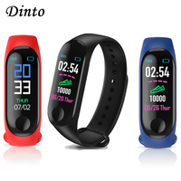 M3 Smart Bracelet Band Activity Fitness Tracker Blood Pressure Heart Rate Monitor Wristband Smart Watch Touch Screen for Adult