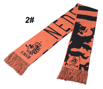 Customized new fashion football knitted scarf