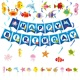 Umiss Paper Ocean Animal Theme Party Supplies For Kids, Fiestas, Holiday and Birthday Decoration Set.