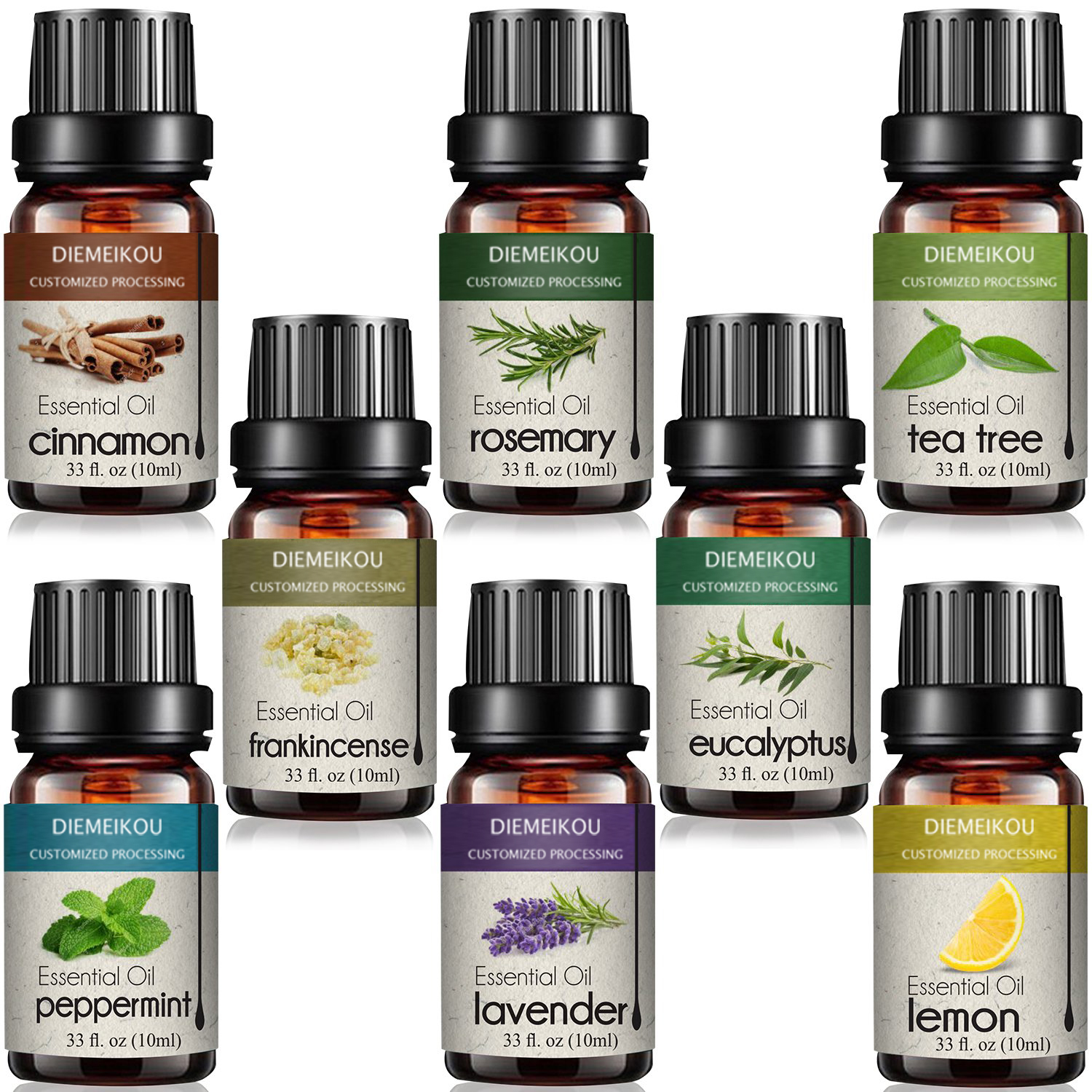 Wholesale 100% pure and natural Tea Tree spa massage oil gift set 10ml water soluble essential oil