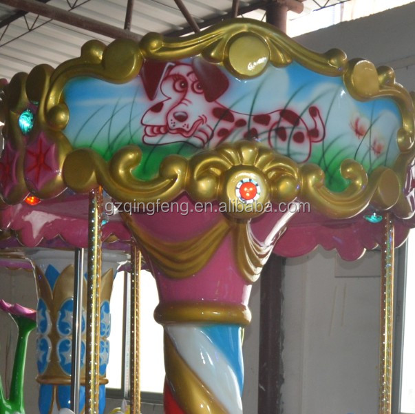 QingFeng high quality coin operated kiddie rides carousel vintage carousel
