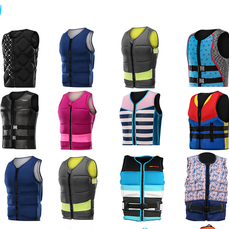 Custom PVC Foam Inside Life Jacket light Personalized Neoprene Comp Wakeboard Life Jacket Vest