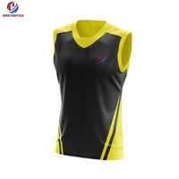 full dye sublimation AFL Jumper sleeveless custom design athletes AFL league team jumper practice Jerseys for men