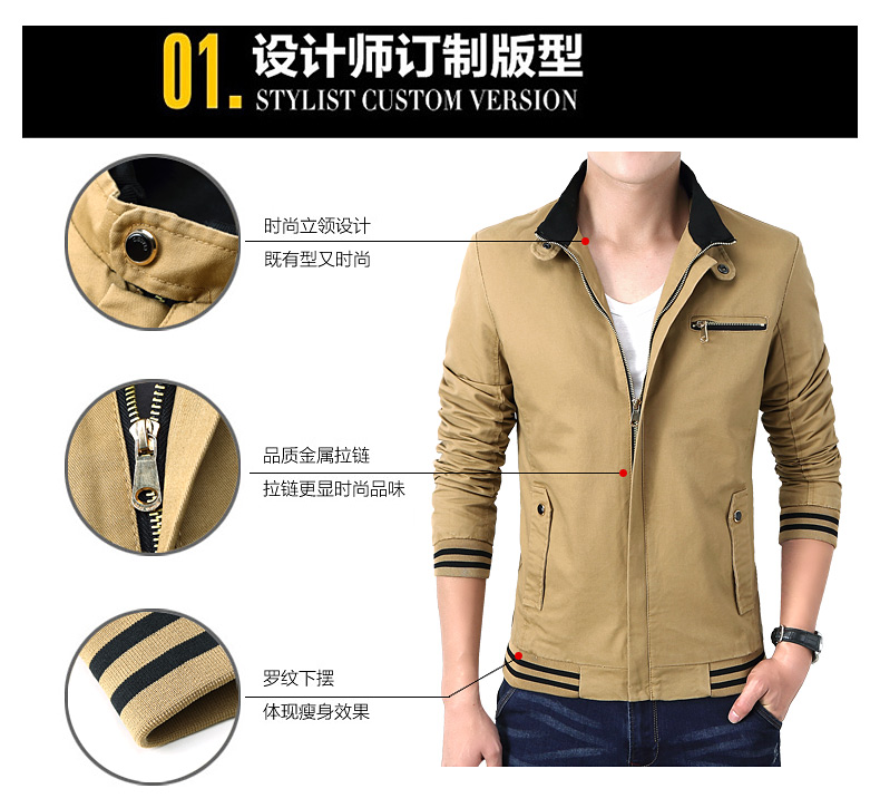 Custom Printed Logo Winter Casual Fashion Slim Men Bomber 4XL Plus Size Jacket