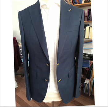 Wholesale Customized Made Single Breast Slim Fit Wool Mans Suits Side Vent Mens 2 Piece Suits