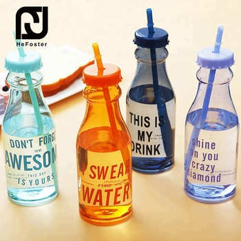 550 ML Eco-friendly sports plastic gym drinking water bottle with straw
