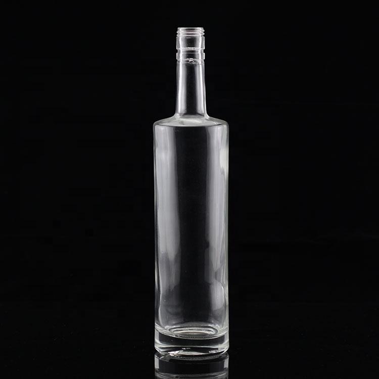 Botella de Vodka delgada de 750ml y 1000 ml, botella de Vodka de vidrio única personalizada