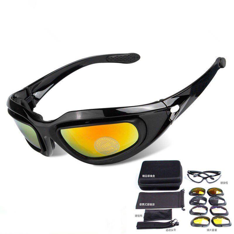 3 de Colores Lentes C3 Tiro Al Plato Gafas Protectores Airsoft Gafas