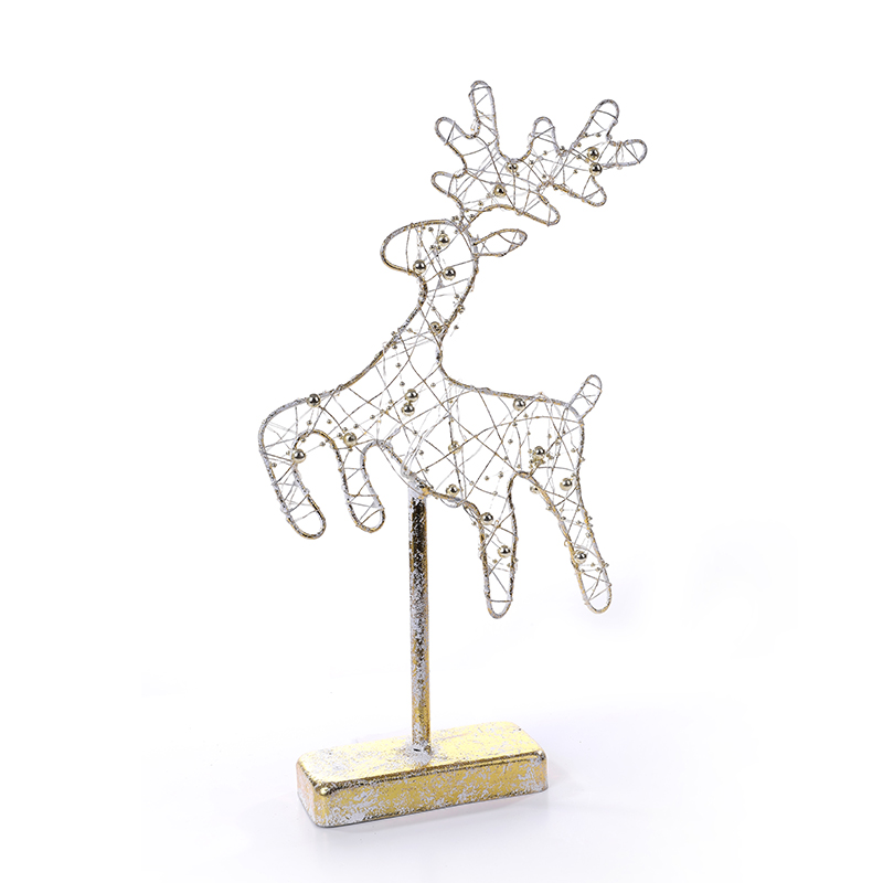 Christmas Mental Material Deer Shape with LED lights Decorate