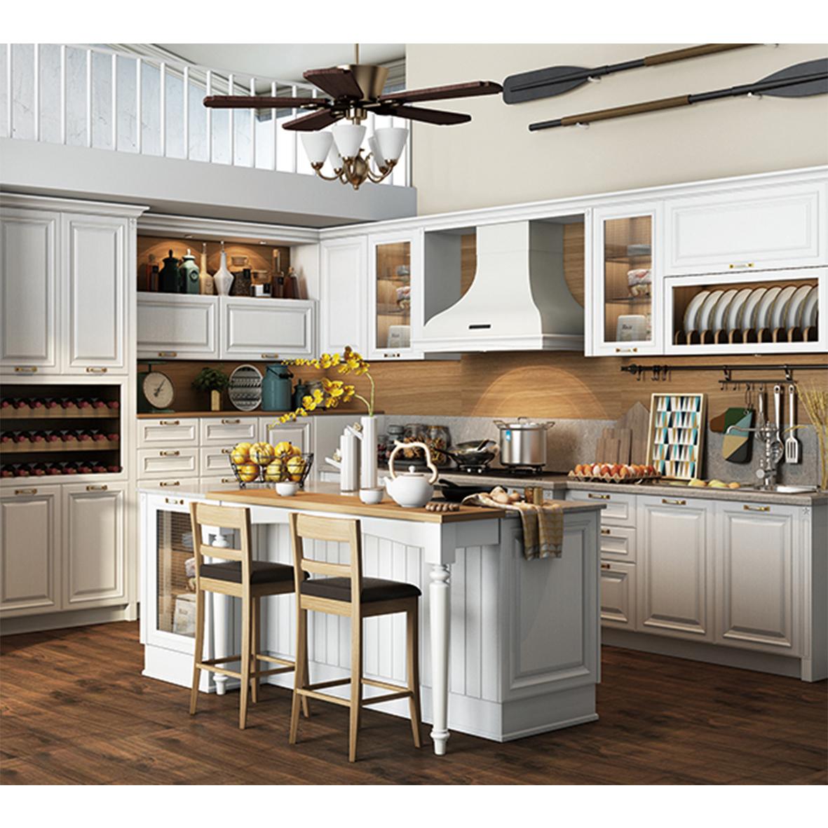 New Design Kitchen Cabinet Wood Veneer Kitchen Cupboard ...