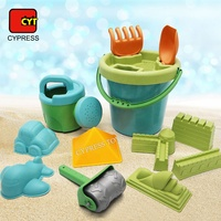 Colorful Sand Mold Summer Silicone Beach Bucket Toy Beach Bucket Set