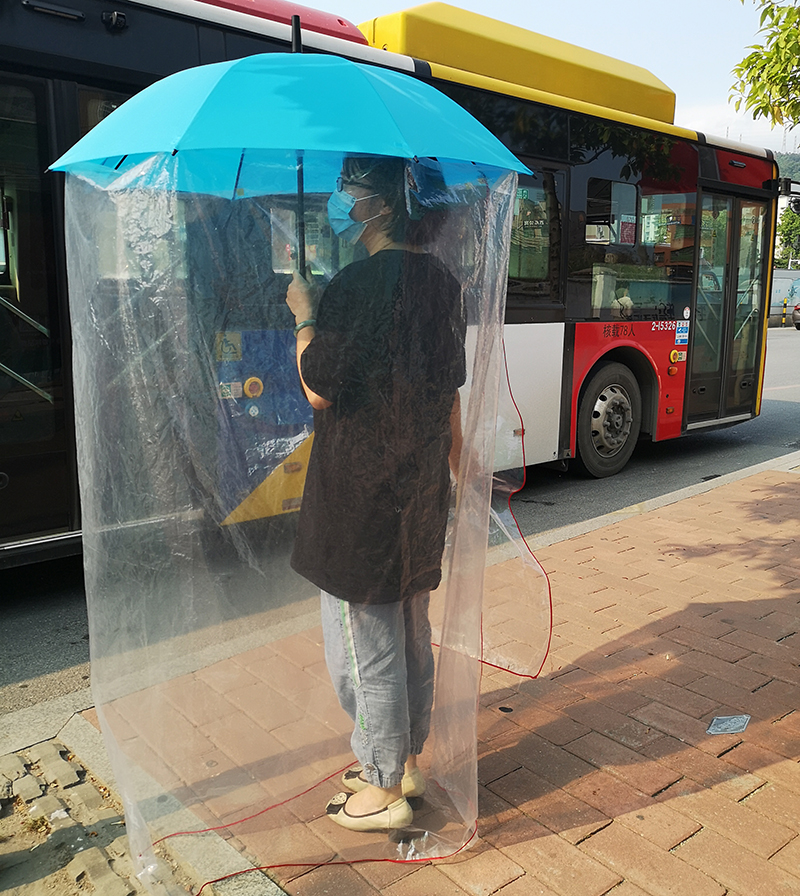 Safety Protection Waterproof New Design Full Body Umbrella