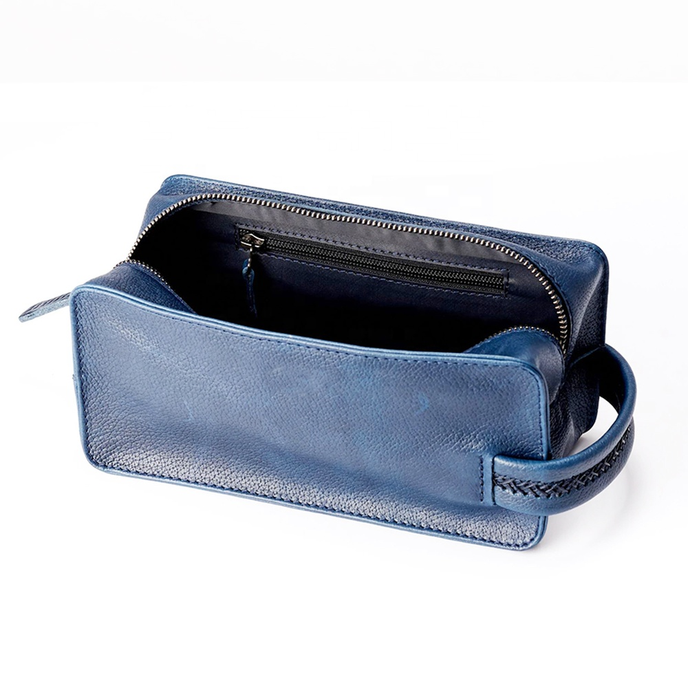 personalized mens  groomsmen gifts leather toiletry bag