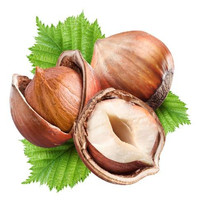Natural Roasted and 100% Organic whole hazelnuts
