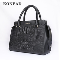 XB0844 2019 New Crocodile Handbag Women Handbag Genuine Leather Bags