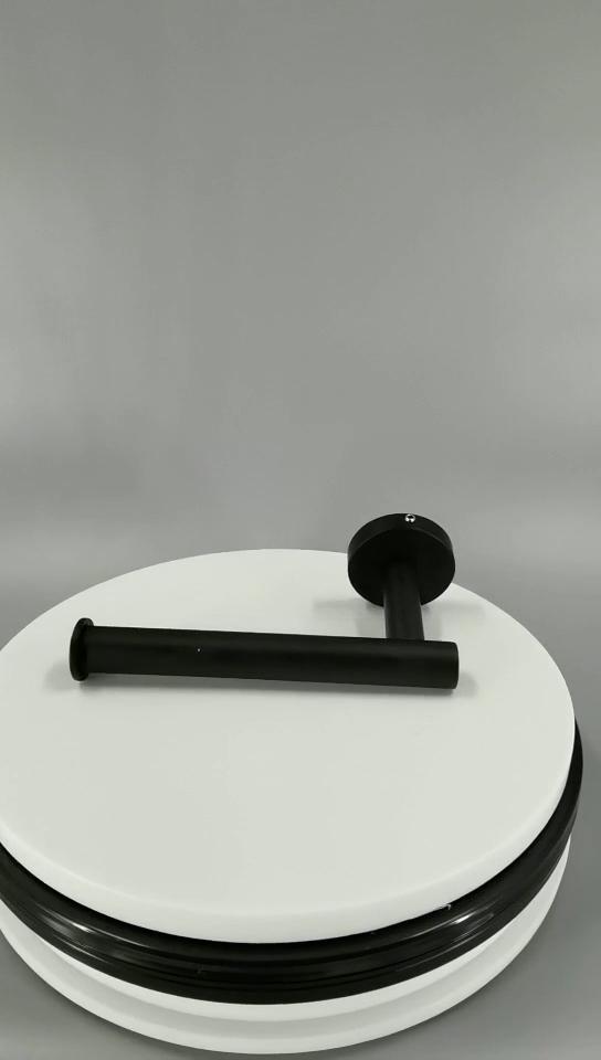 アクセサリーセット収納バスタブベースOemステンレススチールブラックトイレットペーパーティッシュホルダー