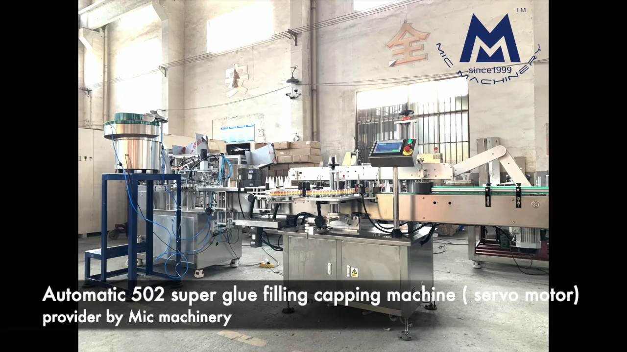 Automatic or Semi Automatic Sticky Glue Filler and Capper