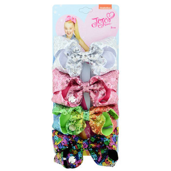 4.3 inch JOJO child hair clip sequined bow hair clip Kids hair accessories 4pcs/set