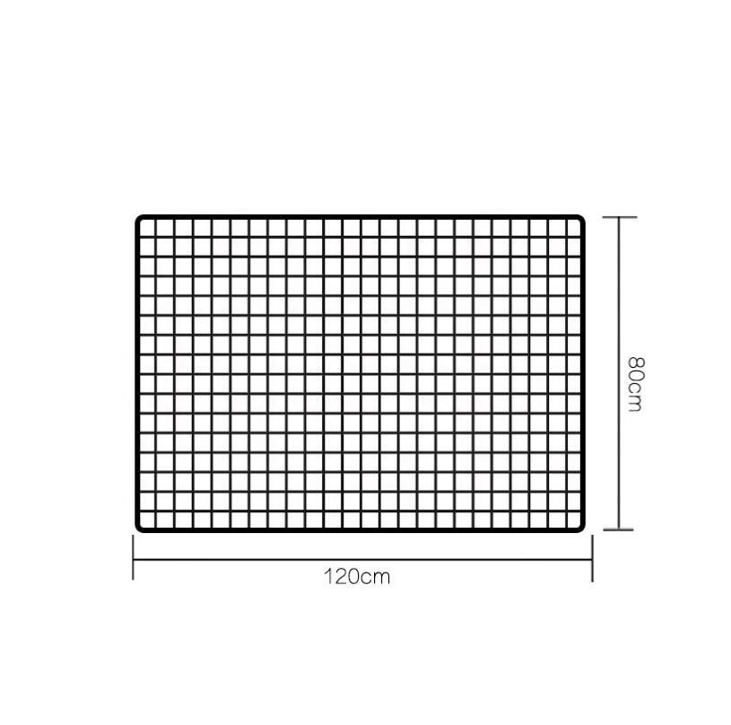 Custom size useful power coated metal wire mesh grid wall panels