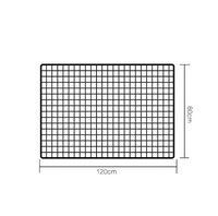 Custom size useful power coated metal wire mesh grid wall panels