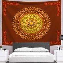 Индийская МАНДАЛА ГОБЕЛЕН настенный богемный пляжный плед одеяло Луна спальня Слон Йога коврик матрас гобелены(Китай)