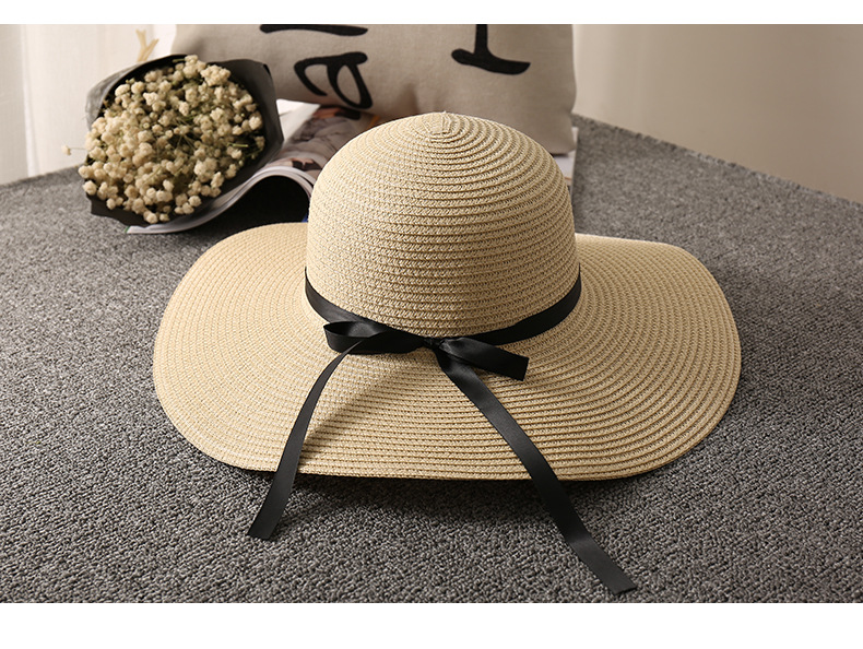 Summer sun foldable quality woman floppy custom wide brim sun beach straw hat