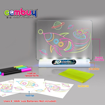 Learning educational LED light kids 3D magic drawing board
