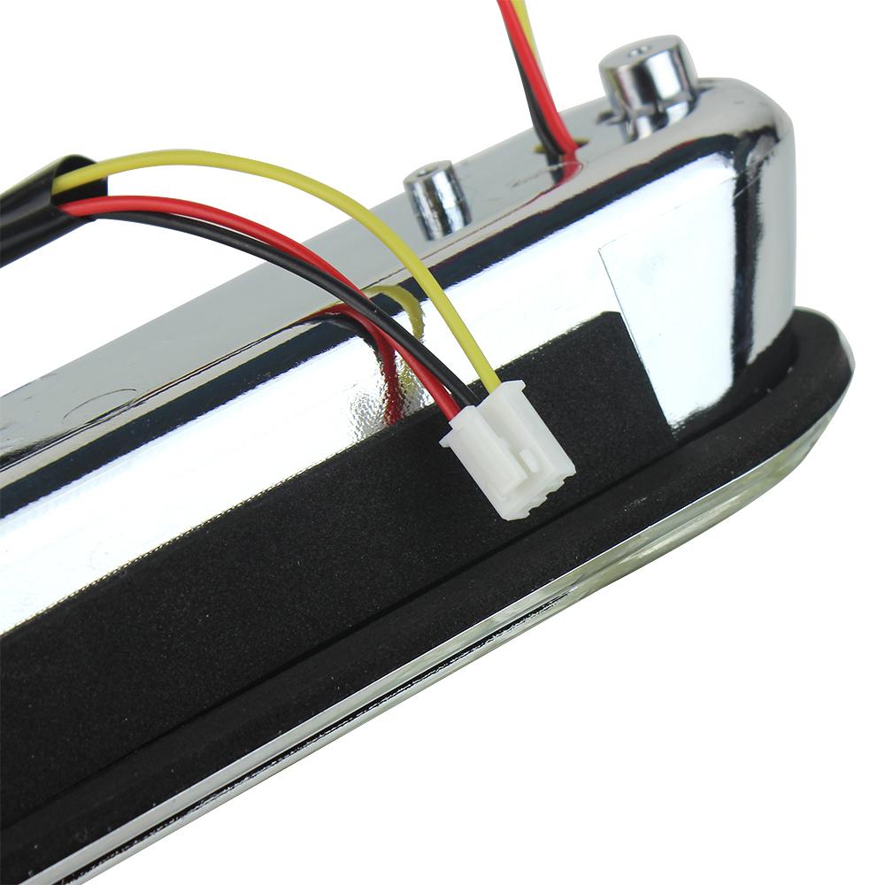 Noir Fauge Moto LED Inserts Support de Remplissage de Sacoche Feu Arri/èRe Feu Arri/èRe pour Touring Road King Glide