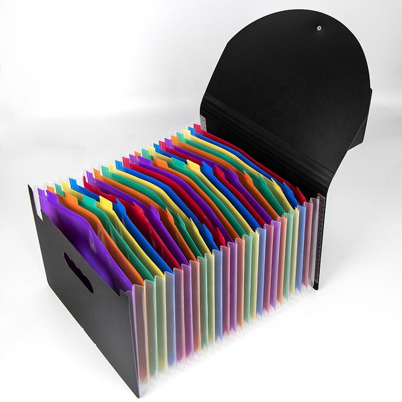 Office Storage A4 Size Paper Expandable File Organizer 24 Pockets Document Folder Bag