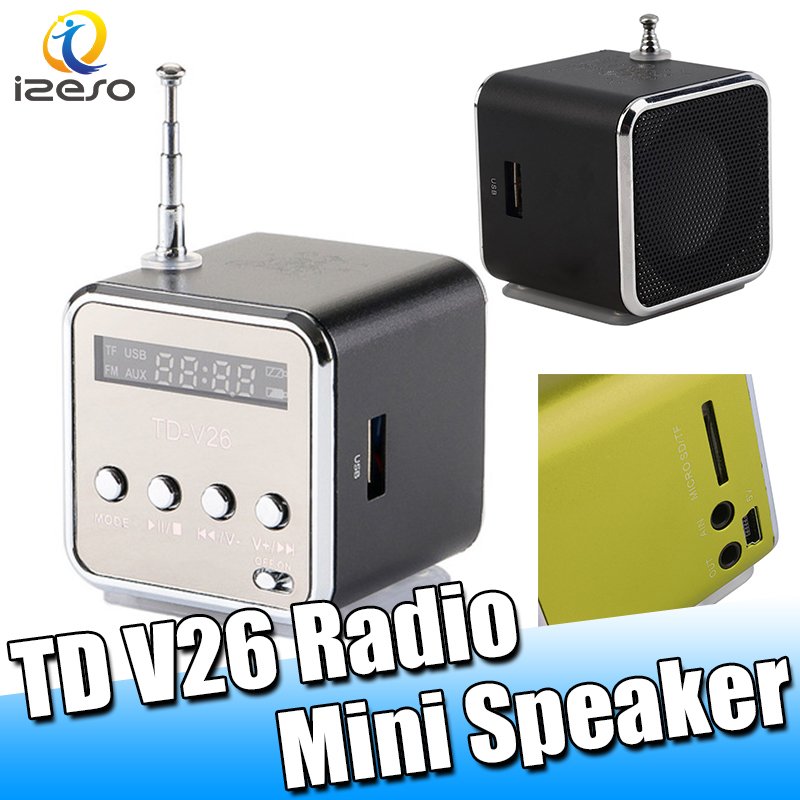 CE Portable 300MAH TD V26 Radio Mini LED Wireless Seismic Bass Speaker