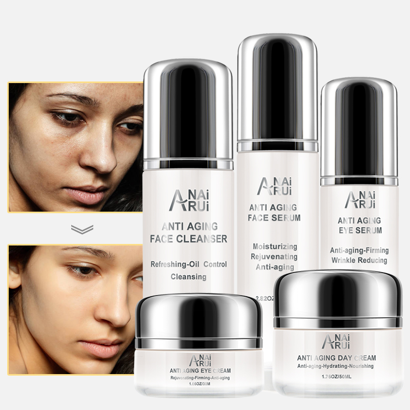 Private Label Organic Skin Care Set Eye Cream Whitening Pore Tightening Anti Aging Serum Oem Skin Care