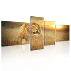 African Lion Canvas Prints for Modern Living Room Wall Decoration Framed Wild Animal Oil Painting