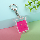 Pink Cute Diy Clear Square Custom Make Your Own Acrylic Keychain