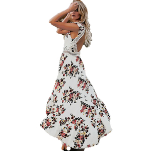 TEMPERAMENTAL DRESS 2019 HOT SALE Cross-border hot style gown with a sleeveless printed dress