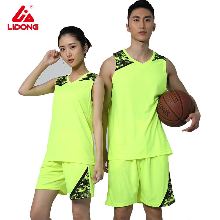 Best sublimation basketball uniform couple design custom basketball jersey фото