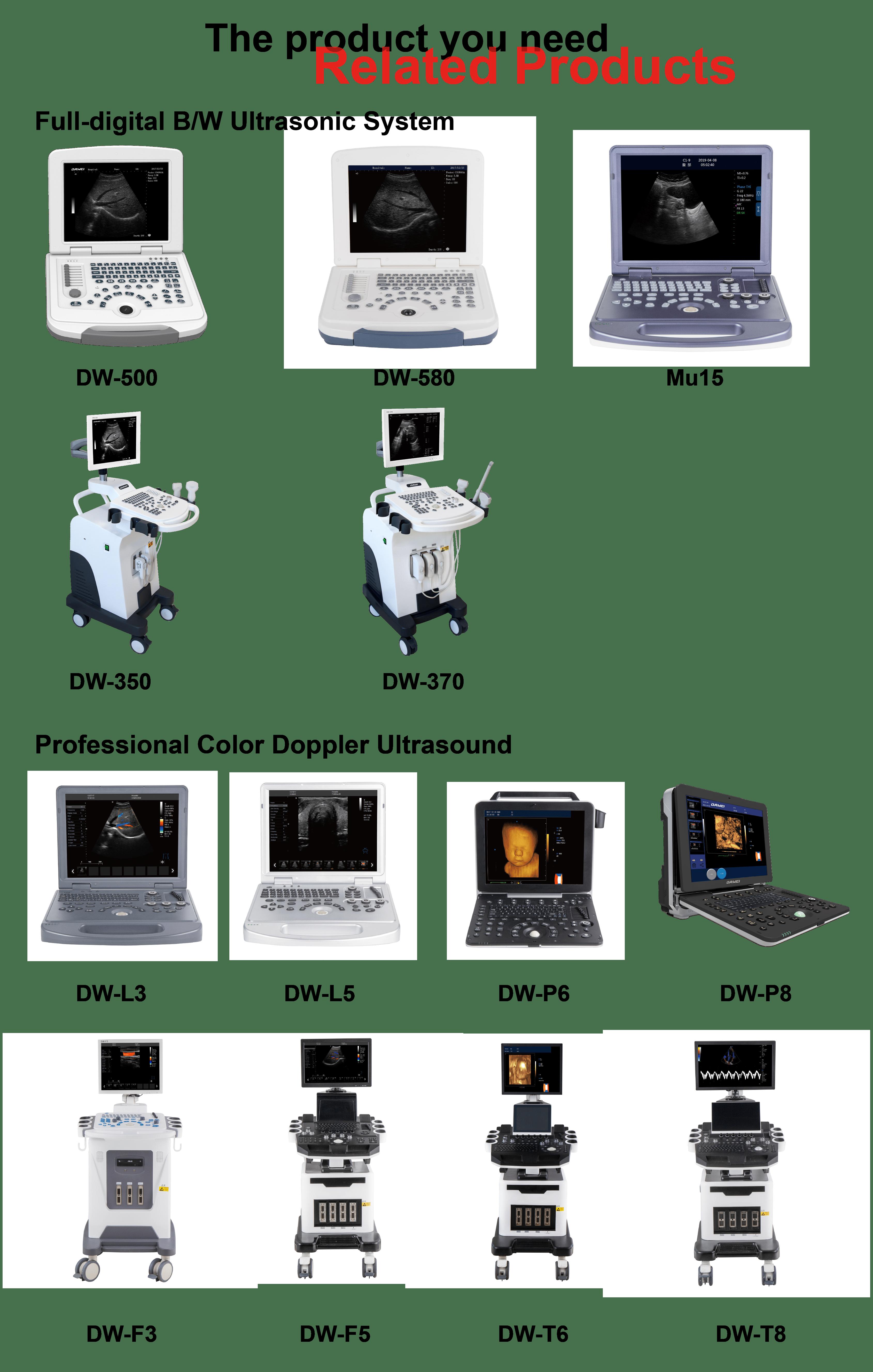 Vendita calda DW-580 CE Ospedale Portatile Nero Bianco macchina Ad Ultrasuoni Prezzo