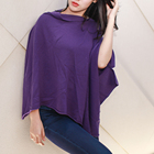 Fashion design knit cable warm winter soft women girl stock cashmere Poncho Cape