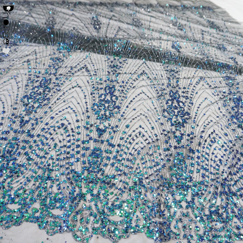 Turkey Glitter Lace Fabric Brillante Glitter Mesh Top For Bridal Gown