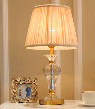 Elegant Crystal Base Table Lamp Desk