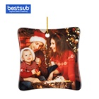 Family Sublimation Blank Ornament BestSub Wholesale Round Manufacturer Custom Family Decoration Printed Sublimation Blank Christmas Ornament Supplies With Names