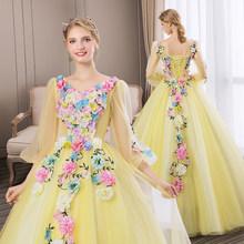 Женское свадебное платье It's YiiYa, белое элегантное бальное платье с длинными рукавами-фонариками и v-образным вырезом, размера плюс, модель ...(China)