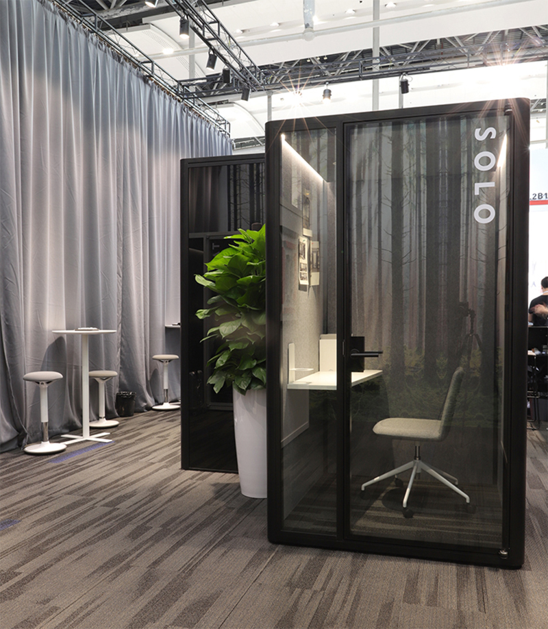 Simple design acoustic movable silence office soundproof working phone booth pod