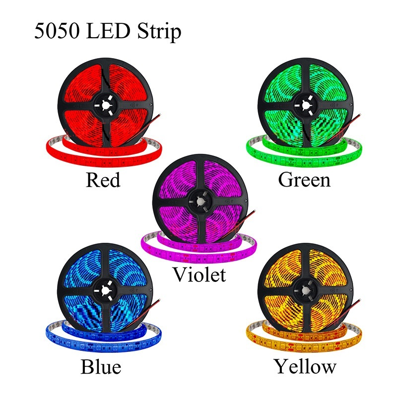 factory outlet wholesale waterproof  12V RGB Multi-Color Tap SMD 5050 Flexible multi-color  LED Strip Light