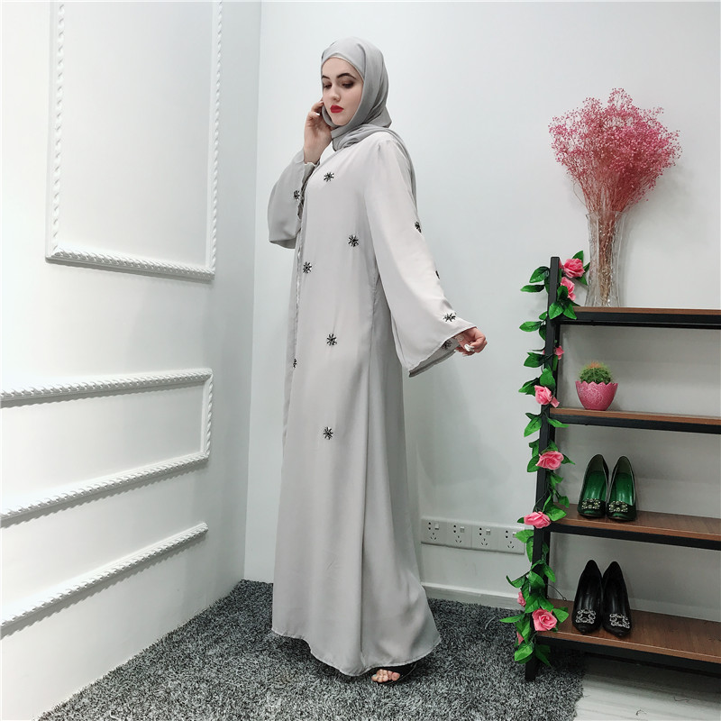 2019 NewTurkish Steentjes vrouwen Kimono Abaya Open Front Lange Maxi Jurk Gewaad Moslim Jilbab Kaftan Vest Islamitische Abaya