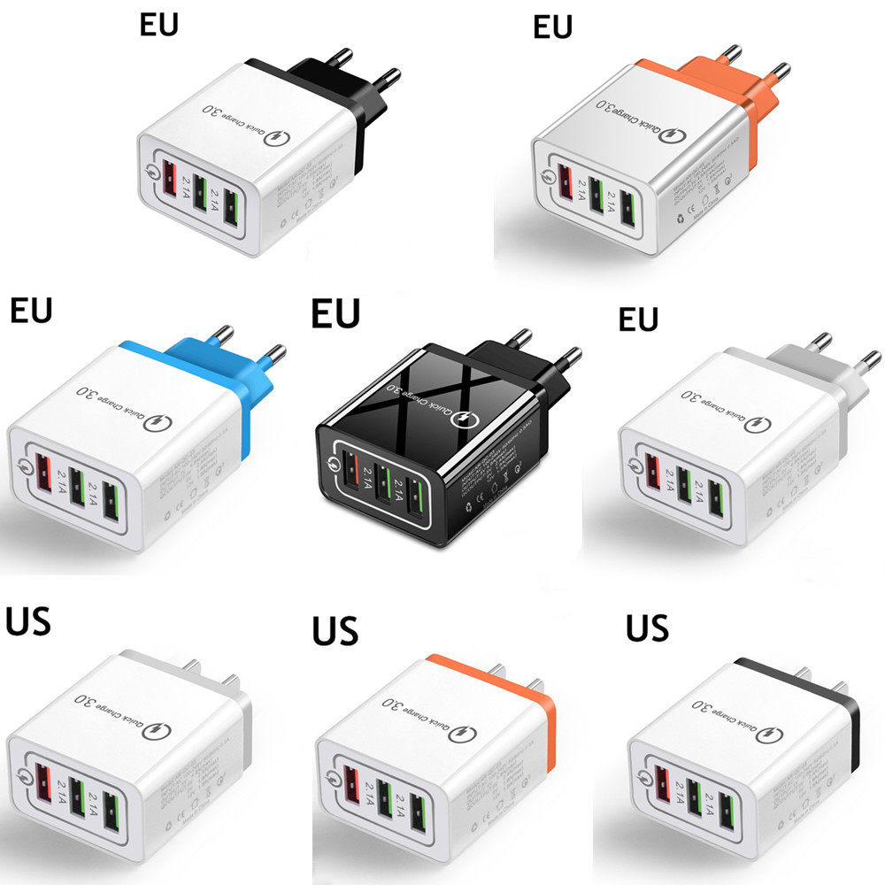 Fast Charging US EU AU plug quick charge QC 3.0 USB travel charger USB Wall Charger OEM Home Charger